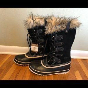 "Mint Sorel ""Joan of Arc"" Black Boots Size: 10 NIB"